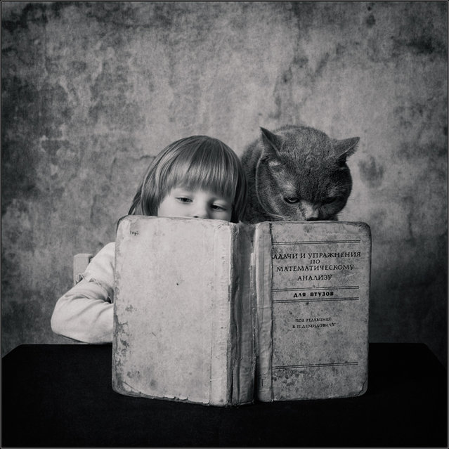 Little Girl and Tomcat By  Andy Prokh