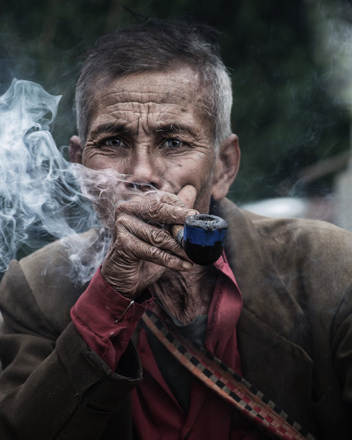 """""""Memories"""". The person in this photograph i met beside a lonely road in Meghalaya, India. I spent one and a half hours with him,and we talked about so many things, and basically I was just a listener. Photo location: Meghalaya, India. (Photo and caption by Jayanta Roy/National Geographic Photo Contest)"""
