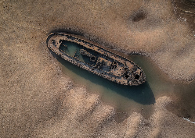 "Shortlisted: The Wreck SS Denham. ""On my photographic journey I love to visit various places across the north-west of England. On this occasion this was the remains and site of a second world war vessel called the SS Denham. I created a video/vlog and images of the site"". (Photo by Mali Davies Photography/Historic Photographer of the Year 2020)"