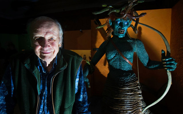 Ray Harryhausen, who died Tuesday, on May 7, 2013 in London at age 92, became fascinated with animation after seeing King Kong in 1933. He went on to create some of the most memorable monsters of old Hollywood, from dinosaurs to mythological creatures. Medusa from 1981's Clash of the Titans is among legendary animator Ray Harryhausen's many creations. (Photo by Carl Court/AFP Photo)