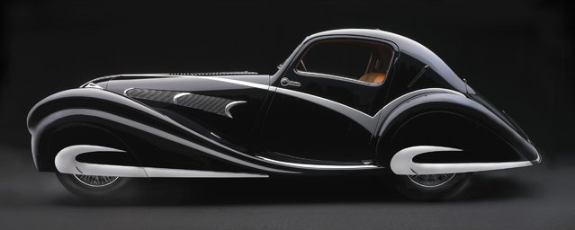 1936 Delahaye 135M Figoni & Falaschi Competition Coupe. Collection of Jim Patterson/The Patterson Collection. (Photo by Peter Harholdt)