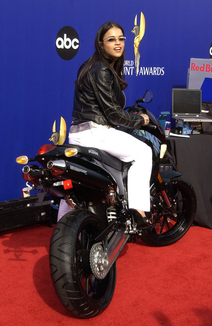 Michelle Rodriguez during 2002 World Stunt Awards at Barker Hanger in Santa Monica, California, United States. (Photo by SGranitz/WireImage)