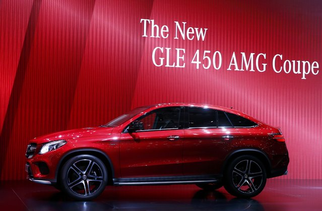 The new Mercedes GLE 450 AMG Coupe is seen during the first press day ahead of the 85th International Motor Show in Geneva March 3, 2015.  REUTERS/Arnd Wiegmann