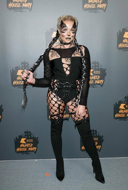 Gabby Allen attends KISS Haunted house Party 2018 at The SSE Arena, Wembley on October 26, 2018 in London, England. (Photo by John Phillips/Getty Images)