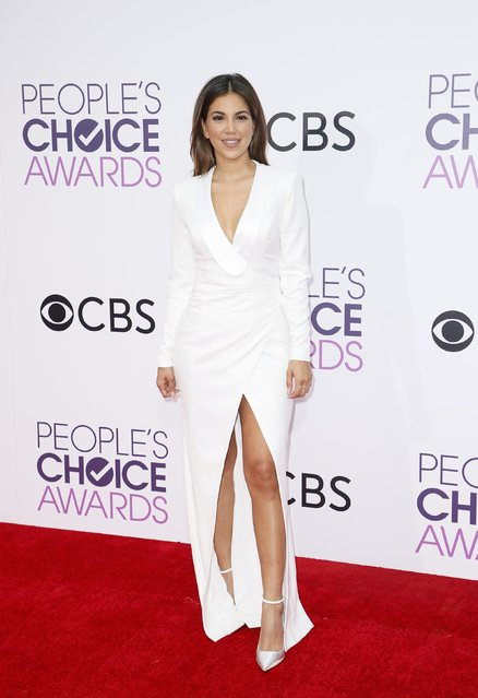 Television personality Liz Hernandez arrives at the People's Choice Awards 2017 in Los Angeles, California, U.S., January 18, 2017. (Photo by Danny Moloshok/Reuters)