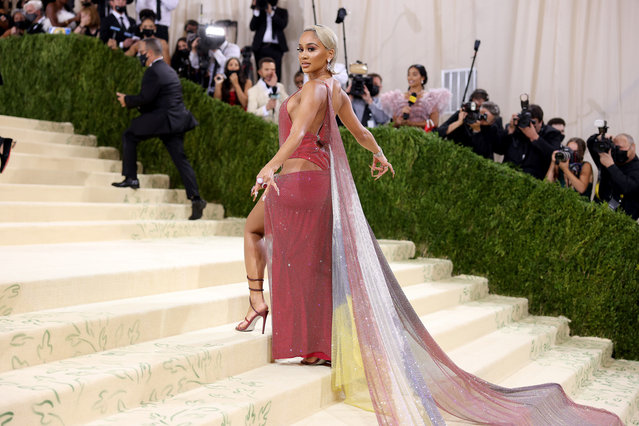 American rapper Saweetie attends The 2021 Met Gala Celebrating In America: A Lexicon Of Fashion at Metropolitan Museum of Art on September 13, 2021 in New York City. (Photo by John Shearer/WireImage)