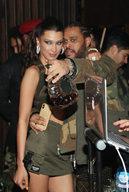 Bella Hadid (L) and The Weeknd attend as The Weeknd celebrates his birthday at TAO Downtown with Remy Martin at TAO Downtown on February 15, 2019 in New York City. (Photo by Cassidy Sparrow/Getty Images for Remy Martin)