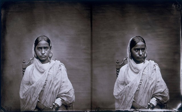 Double portrait of a woman in the harem of the royal palace of Jaipur, India, 1857 – 1865. (Photo by Maharaja Ram Singh III/Alinari via Getty Images)