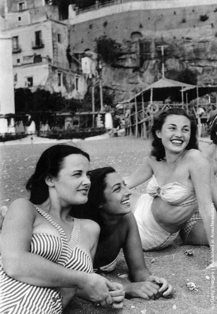 1949: 18-year old London student Mercy Haystead on holiday in Italy as an official guest of the town of Positano