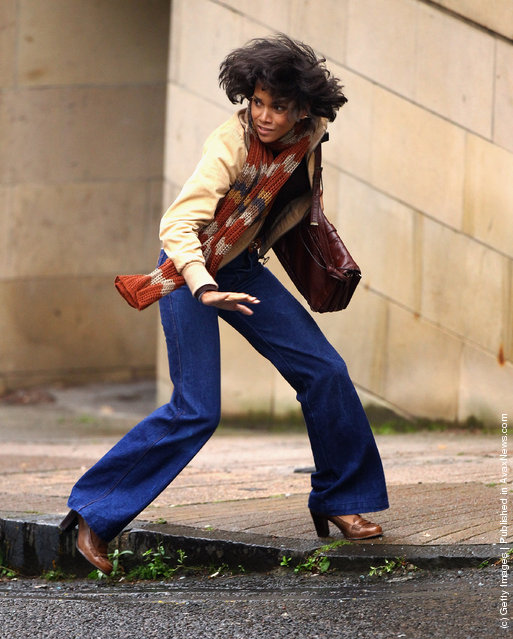 Halle Berry on set of her new Hollywood film Cloud Atlas