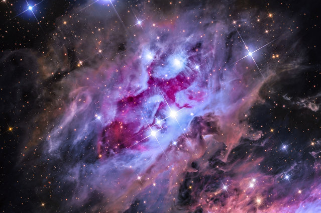 The Running Man Nebula. Steven Mohr (Australia). The Running Man nebula can be found in the constellation of Orion, located some 1,500 light years from Earth. This nebula complex is commonly called the Running Man nebula due to the somewhat identifiable outline of a man striding through space. (Photo by Steven Mohr/National Maritime Museum)