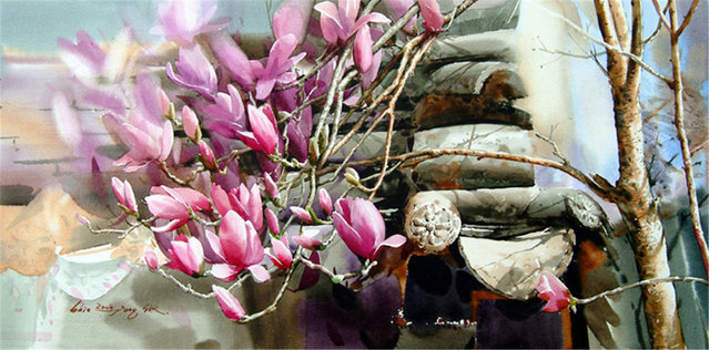 Watercolor Painting By Shin Jong Sik