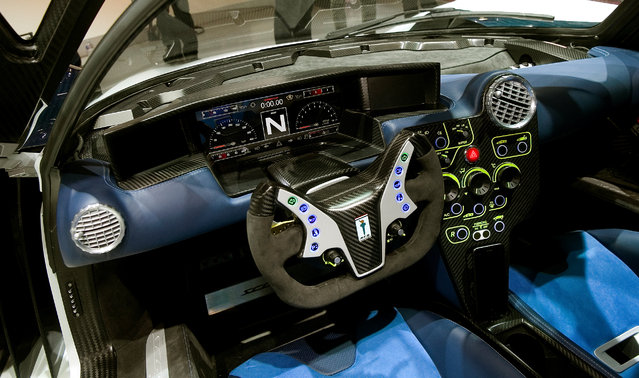 Cockpit of a SCG 0003S racecar is seen during the 87th International Motor Show at Palexpo in Geneva, Switzerland March 8, 2017. (Photo by Arnd Wiegmann/Reuters)