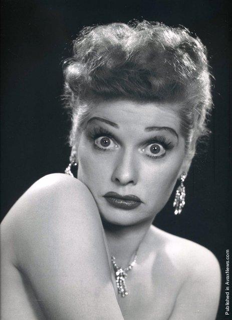 American actress Lucille Ball. USA, 1950
