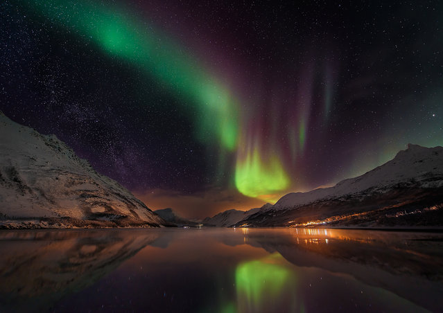 Some of the best entries so far in the 2016 Insight Astronomy Photographer of the Year competition. There are two weeks left to enter, and the winners will be announced in September. Here: Aurora over Laksvatn Fjord, Laksvatn, Norway. The aurora borealis dances in the skies over the town of Laksvatn, with the Milky Way to the left. The image is a single shot with no compositing, only post-processing to bring out the aurora, and some colour corrections. (Photo by Matt Walford/National Maritime Museum)