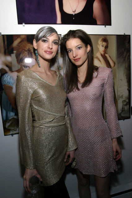 Models Aria (L) and Misha Sedgwick attend attend the Edie Sedgwick Exhibit opening party at Gallagher's Art & Fashion Gallery on February 2, 2005 in New York City.  (Photo by Donald Bowers)