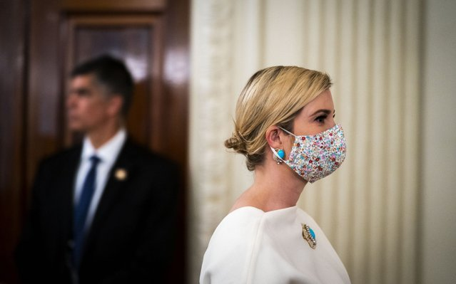 Ivanka Trump, Advisor of US President Donald J. Trump, departs a meeting with US President Donald J. Trump after they participated in a roundtable with Restaurant Executives and Industry Leaders in the State Dining Room, in the White House, Washington, DC, USA, 18 May 2020. (Photo by Doug Mills/Pool via EPA-EFE)