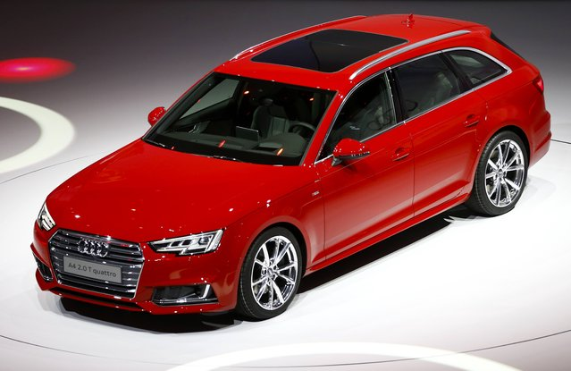 The new Audi A4 2.0 T quattro is presented during the Volkswagen group night ahead of the Frankfurt Motor Show (IAA) in Frankfurt, Germany, September 14, 2015. (Photo by Kai Pfaffenbach/Reuters)