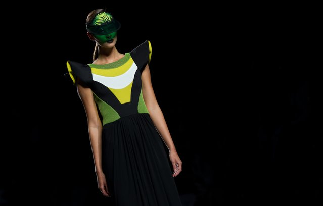 A model showcases designs by Maya Hansen on the runway at the Maya Hansen show during Mercedes-Benz Fashion Week Madrid Spring/Summer 2015/16 at Ifema on September 21, 2015 in Madrid, Spain. (Photo by Eduardo Parra/Getty Images)