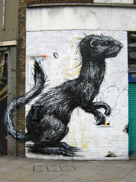 Roa @ The Foundry, UK. (Photo by Mike Panayi)