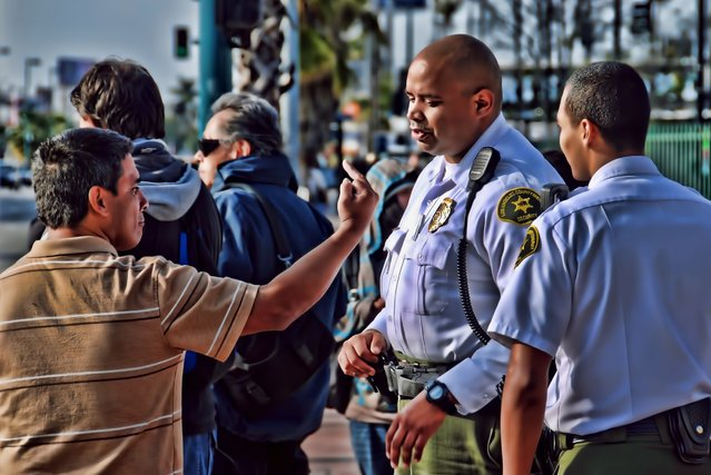 """""""Los Angeles County Sheriff's Metro Security"""". (Photo and comment by Chris Yarzab)"""