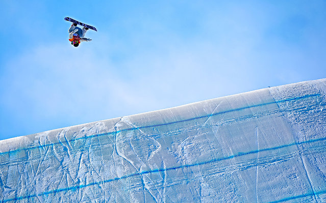 US snowboarder Redmond Gerard wins the gold medal during the Snowboarding Men's Slopestyle Finals at Pheonix Snow Park on February 11, 2018 in Pyeongchang-gun, South Korea. (Photo by Laurent Salino/Agence Zoom/Getty Images)