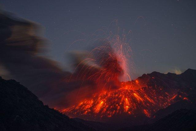 Sakurajima Volcano in Japan. (Photo by Martin Rietze/Guzelian)