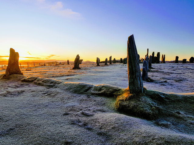 Shortlisted: Callanish Standing Stones. Callanish on the Isle of Lewis, Scotland at sunrise a few days before the winter solstice. (Photo by Dawn Louise Farrell/Historic Photographer of the Year 2020)