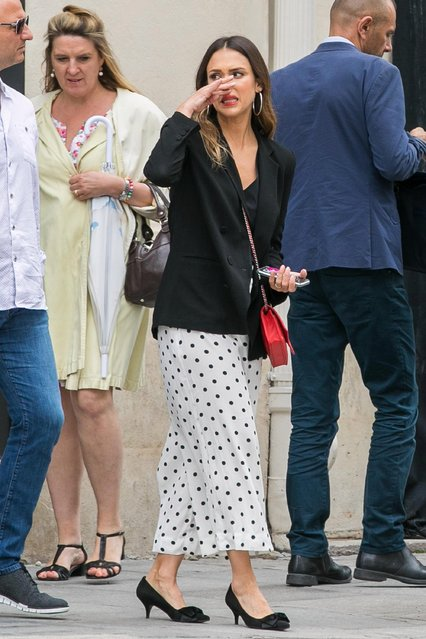Actress Jessica Alba is seen on June 12, 2018 in Paris, France. (Photo by Marc Piasecki/GC Images)