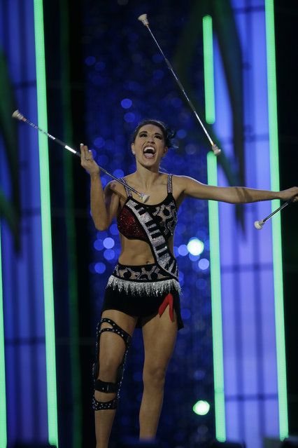 Miss Florida Myrrhanda Jones performs during the Miss America 2014 pageant, Sunday, September 15, 2013, in Atlantic City, N.J. (Photo by Mel Evans/AP Photo)