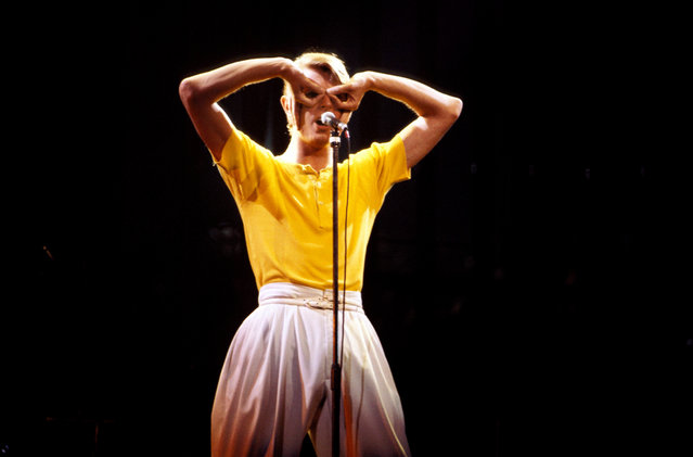 Bowie onstage on Low/Heroes 1978 world tour. (Photo by Richard E. Aaron/Redferns)