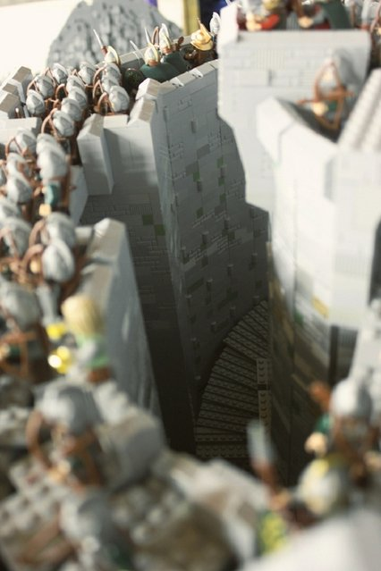 Battle Of Helm's Deep Made From Lego