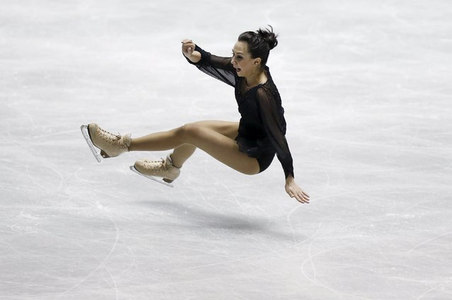 Elizaveta Tuktamysheva of Russia falls on the ice during the ladies' short program at the ISU World Team Trophy in Figure Skating in Tokyo April 16, 2015. (Photo by Yuya Shino/Reuters)