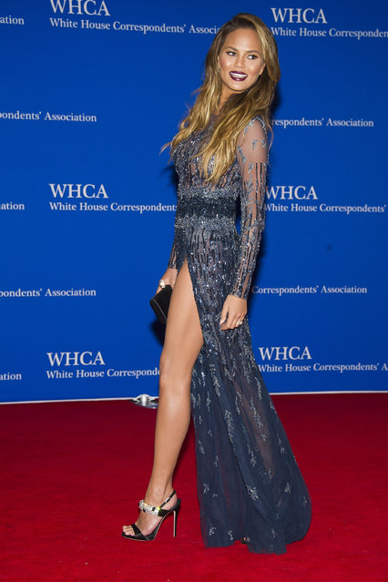 Chrissy Teigen attends the 2015 White House Correspondents' Association Dinner at the Washington Hilton Hotel on Saturday, April 25, 2015, in Washington. (Photo by Charles Sykes/Invision/AP Photo)