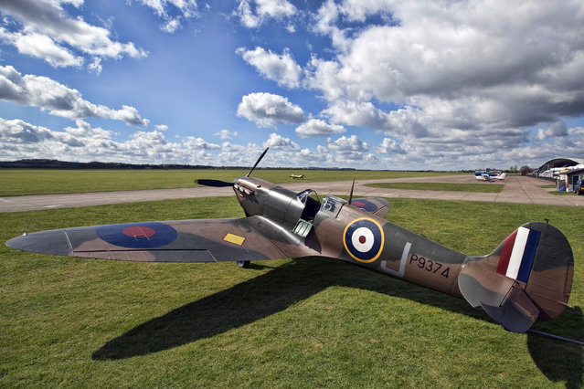 A restored Vickers Supermarine Spitfire Mk.1A on April 27, 2015 is pictured at Imperial War Museum Duxford in Cambridge, England. The Spitfire, one of the last of its kind remaining, is due to be auctioned for charity on 9 July 2015 and is expected to fetch between 1.5 – 2.5 million GBP (2.25 – 3.8 million USD). (Photo by Carl Court/Getty Images)