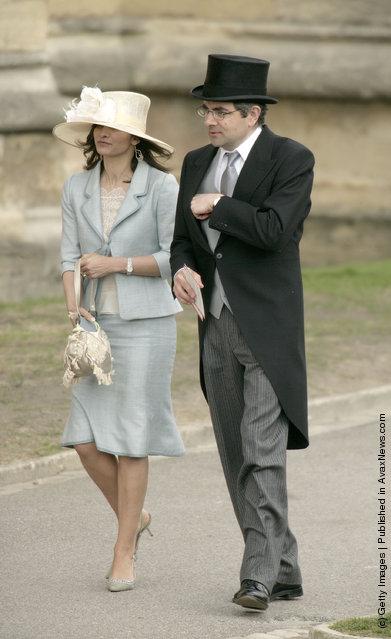 Rowan Atkinson and his wife