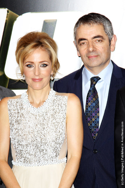 Johnny English Reborn – UK Premiere, Rowan Atkinson and Gillian Anderson