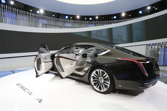 Cadillac Escala Concept car is seen during the 87th International Motor Show at Palexpo in Geneva, Switzerland March 7, 2017. (Photo by Arnd Wiegmann/Reuters)