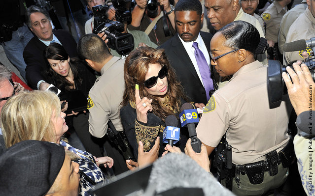 LaToya Jackson leaves court for the Dr Conrad Murray trial verdict