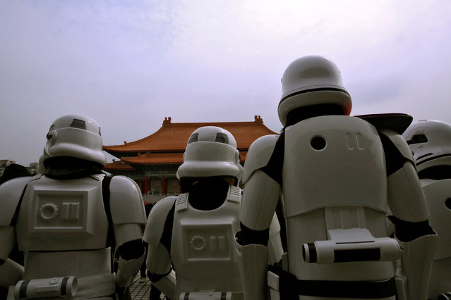 People dressed as Storm Troopers from Star Wars are pictured during Star Wars Day in Taipei, Taiwan May 4, 2016. (Photo by Tyrone Siu/Reuters)