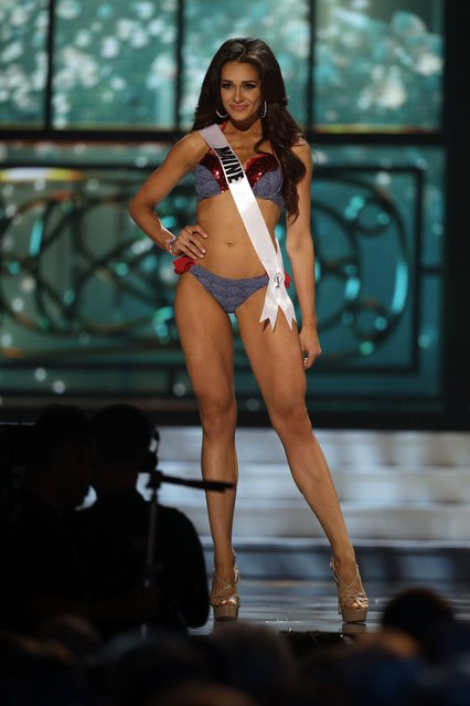 Miss Maine, Heather Elwell, competes in the bathing suit competition during the preliminary round of the 2015 Miss USA Pageant in Baton Rouge, La., Wednesday, July 8, 2015. (Photo by Gerald Herbert/AP Photo)