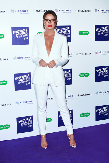 Maura Higgins seen attending Specsavers Spectacle Wearer of the Year awards on October 08, 2019 in London, England. (Photo by Splash News and Pictures)