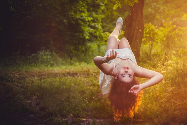 """""""Christine levitation"""". (Photo by Andrew Gubrenko)"""