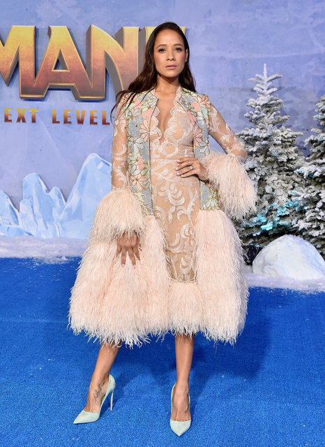 """Dania Ramirez attends the premiere of Sony Pictures' """"Jumanji: The Next Level"""" on December 09, 2019 in Hollywood, California. (Photo by Axelle/Bauer-Griffin/FilmMagic)"""