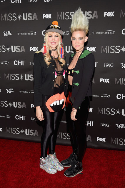 Musicians Olivia Nervo (L) and Miriam Nervo of Nervo attend the 2016 Miss USA pageant at T-Mobile Arena on June 5, 2016 in Las Vegas, Nevada.  Photo by Ethan Miller/Getty Images)