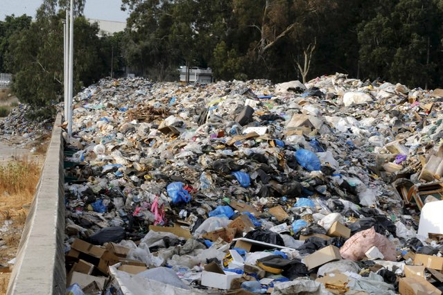 A general view shows a garbage filled area on the edge of Beirut river, Lebanon August 24, 2015. (Photo by Mohamed Azakir/Reuters)