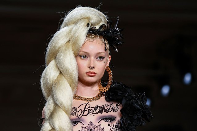 A model presents a creation from The Blonds Spring/Summer 2015 collection during New York Fashion Week, on September 11, 2014. (Photo by Lucas Jackson/Reuters)