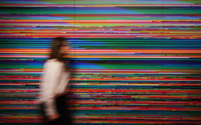 The first visualisation of the World Wide Web from 1999, with colours representing individual websites, by artist Lisa Jevbratt is shown at the Big Bang Data exhibition at Somerset House on December 2, 2015 in London, England. (Photo by Peter Macdiarmid/Getty Images for Somerset House)