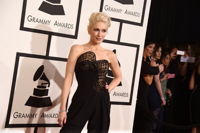 Gwen Stefani arrives at the 57th annual Grammy Awards at the Staples Center on Sunday, February 8, 2015, in Los Angeles. (Photo by Jordan Strauss/Invision/AP Photo)