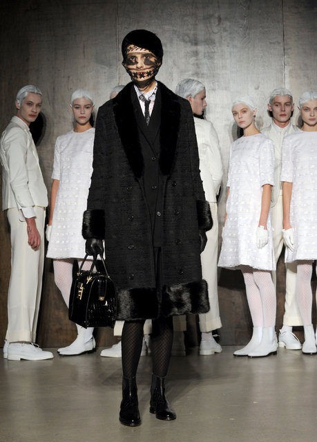 The Thom Browne Fall 2015 collection is modeled during New York Fashion Week, Monday, February 16, 2015. (Photo by Diane Bondareff/AP Photo)
